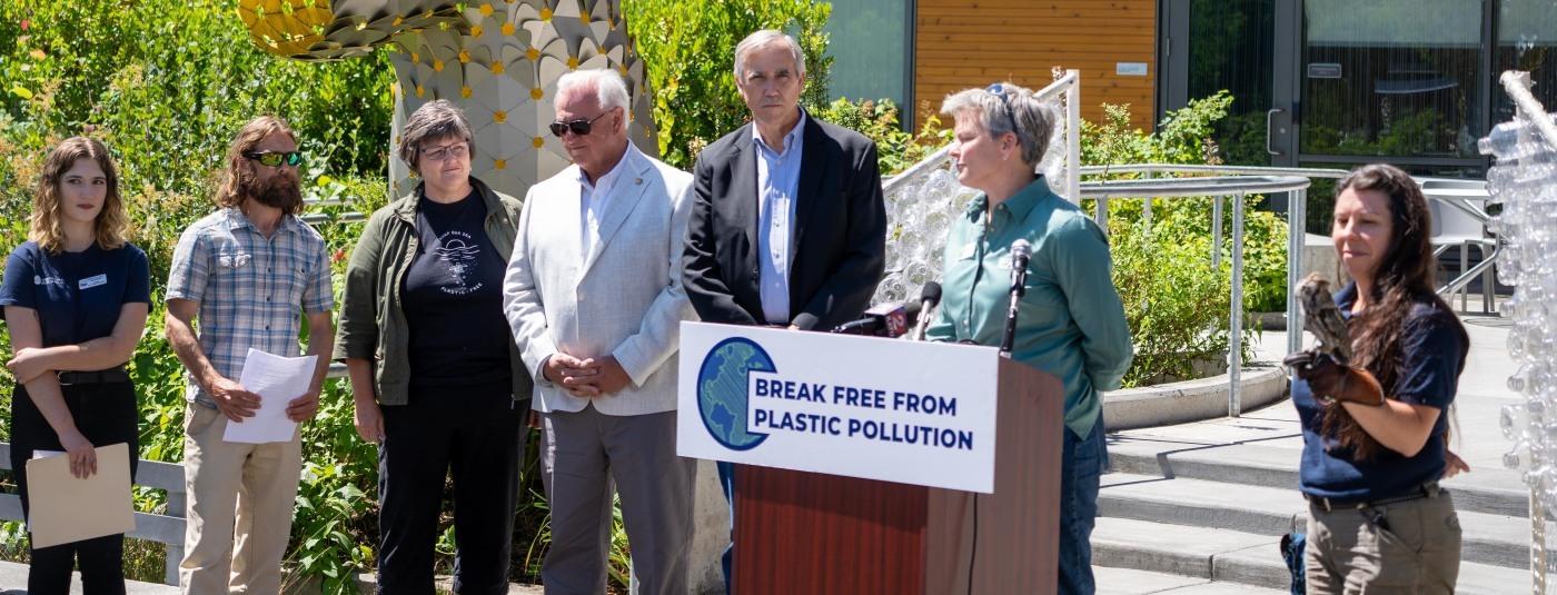 U.S. Senator Merkley Joins Surfrider in Plastic Free July Press Conference