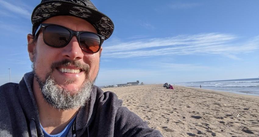 Kai Craig with the Long Beach Chapter's Ocean Friendly Gardens Program